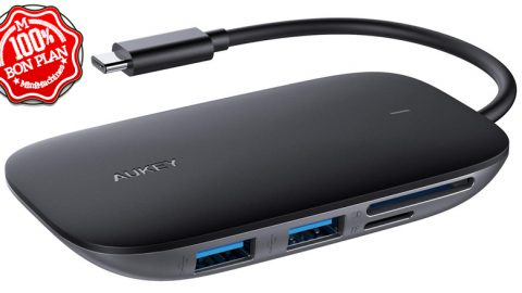 Hub USB Type-C Aukey 6 en 1