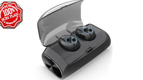 Ecouteurs Bluetooth 5.0 Alfawise V6 TWS noir