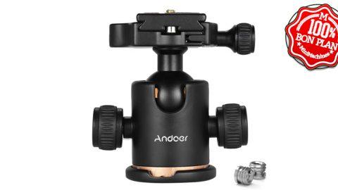 Rotule de trépied Andoer avec support rapide