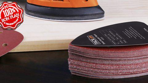 50 disques abrasifs pour ponceuse vibrante