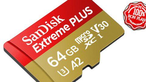Carte MicroSDXC Sandisk Extreme PLUS 64Go