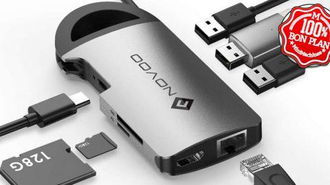 Hub USB type-C Nuvoo 8-en-1