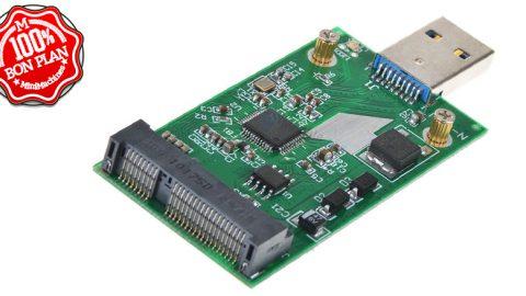 Adaptateur USB 3.0 vers mSATA