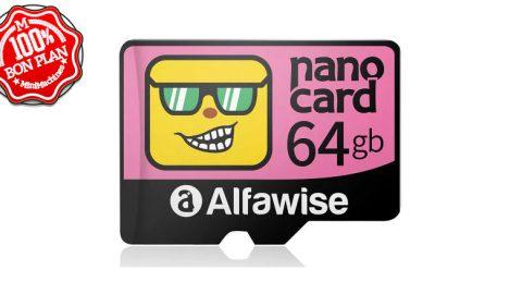 Carte MicroSD 64Go Alfawise Nano Card