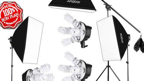 Kit Andoer Studio Photo + sac de transport