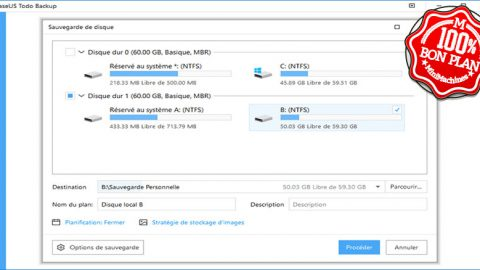 Logiciel de clonage EasyUS Todo Backup Home 11.5