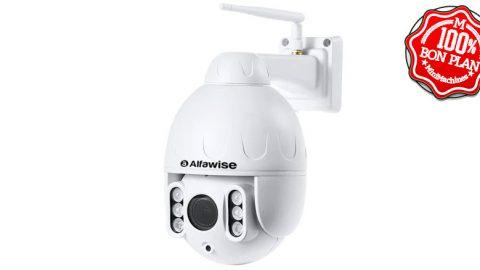 Caméra IP extérieure Alfawise SD07W rotative 1080P IR