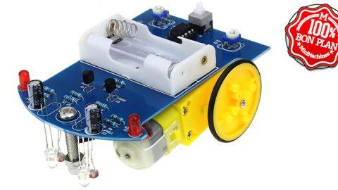 Kit Electronique - Voiture a monter capable de suivre une ligne