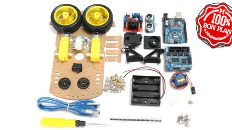 Montage Véhicule Arduino pilotage Bluetooth ou autonome Geekcreit