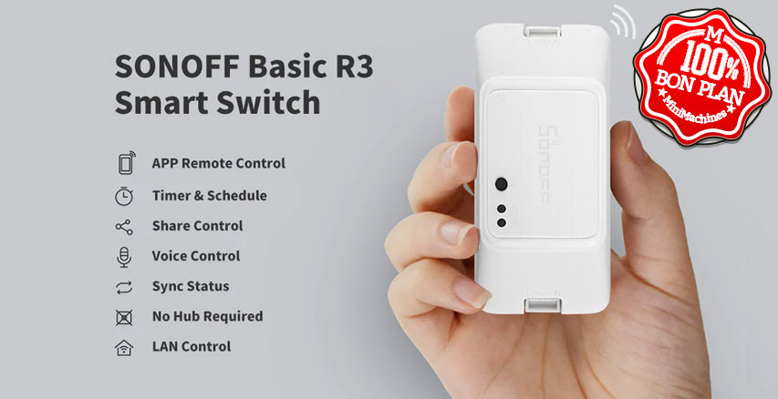 Interrupteur SONOFF Basic R3 DIY Wifi