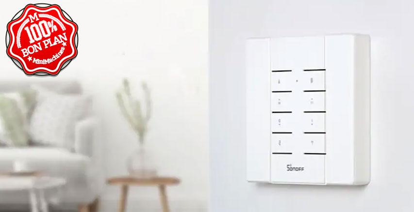 Télécommande Sonoff RM433 8 touches 433MHz