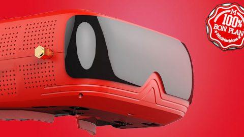 Casque FPV pour Drone Topsky Prime 2 rouge