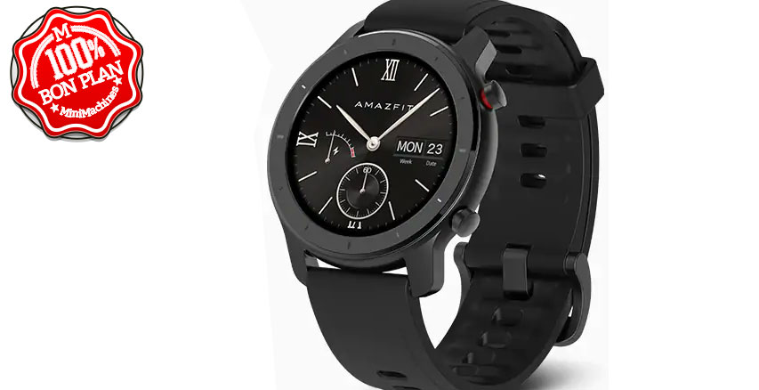 Montre Xiaomi Amazfit GTR 42mm Aluminium version Internationale