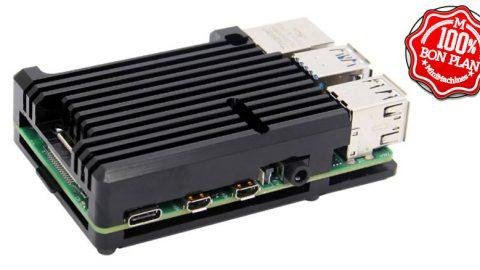 Dissipateur et châssis pour Raspberry Pi 4 Model B