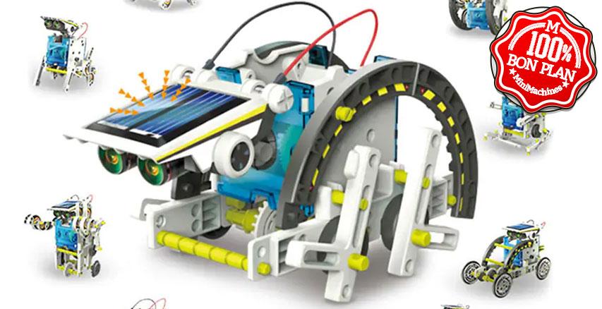 Jouet de construction solaire a assembler 13-en-1