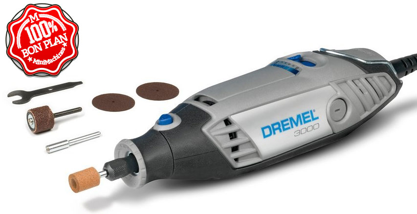 Outil multifonction Dremel 3000 + 15 accessoires