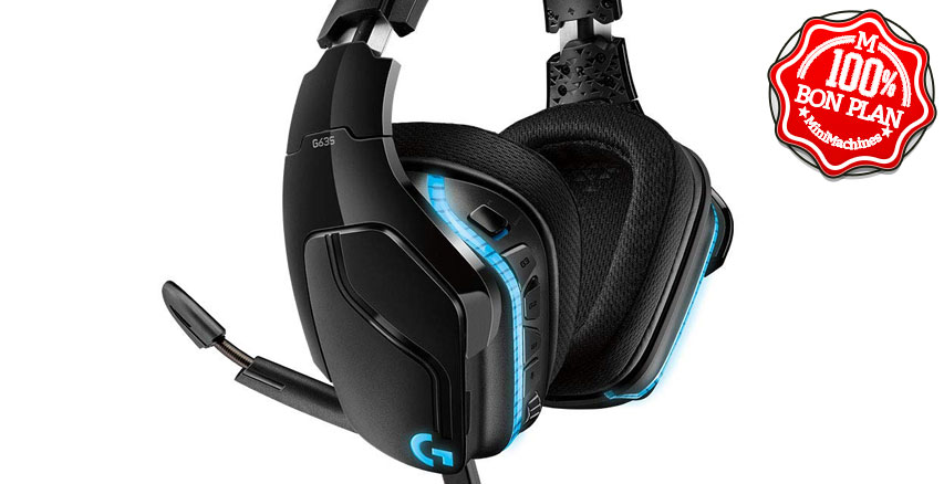 Casque gaming Logitech G635 7.1 Surround + RVB