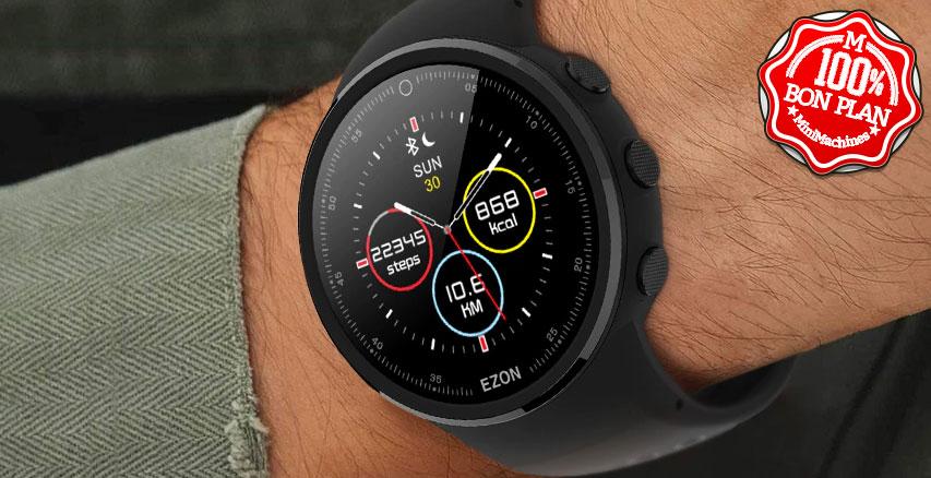 Montre Alfawise K958 écran réfléctif + GPS