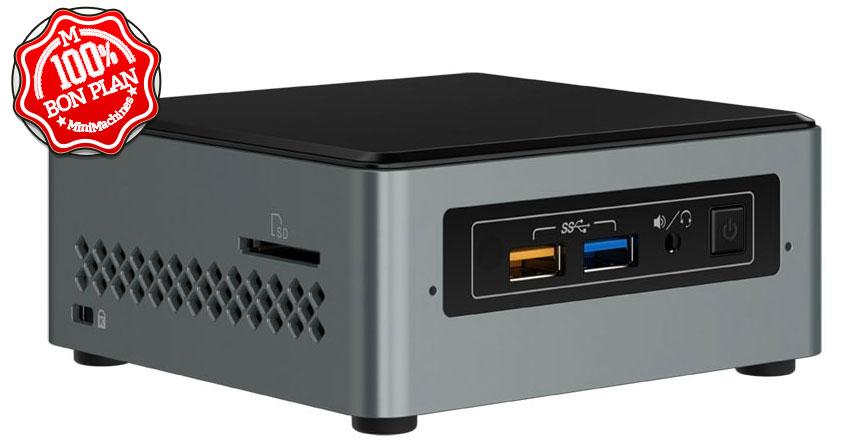 MiniPC Intel NUC NUC6CAYS Celeron J3455 2Go/32Go + 2.5