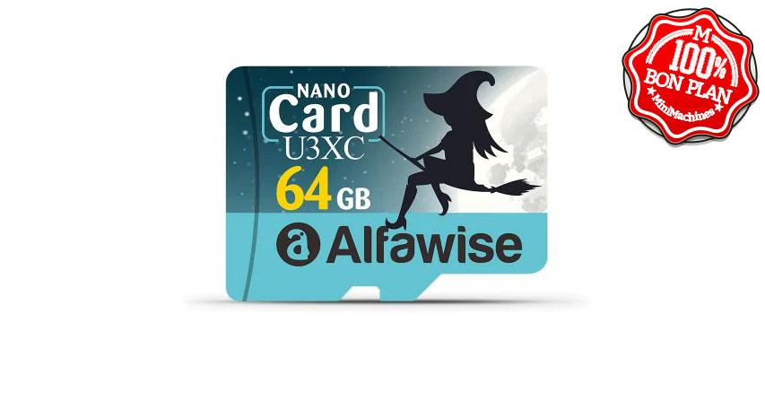 Carte MicroSDXC Alfawise U3XC 64 Go