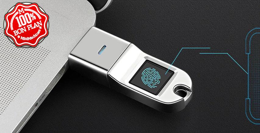 Clé USB 128Go + lecteur d'empreintes GoComma