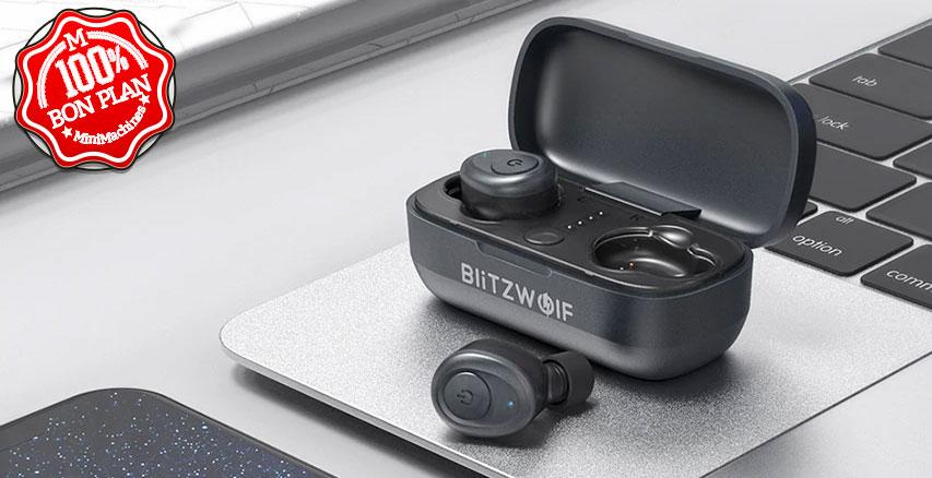 Oreillettes Bluetooth 5.0 Blitzwolf BW-FYE4