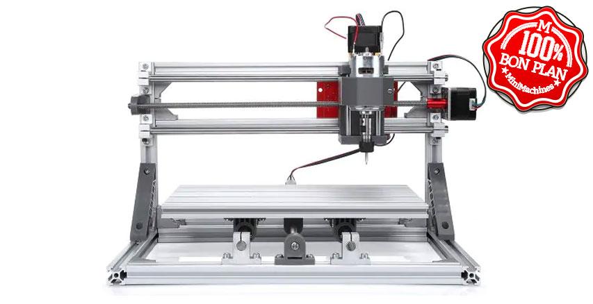 Graveuse laser Alfawise C10 - Support avec module laser 2500 mW + fraise CNC