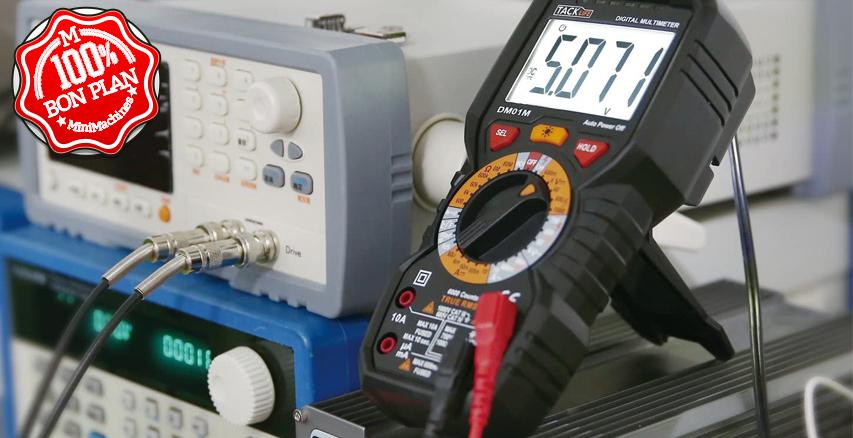 Multimètre Ampèremètre Voltmètre Tacklife DM01M