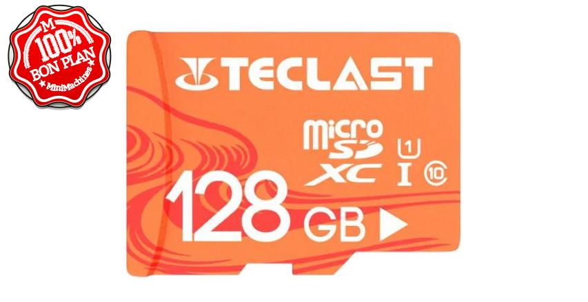 11.11 Carte MicroSDXC Teclast 128 Go UHS-I