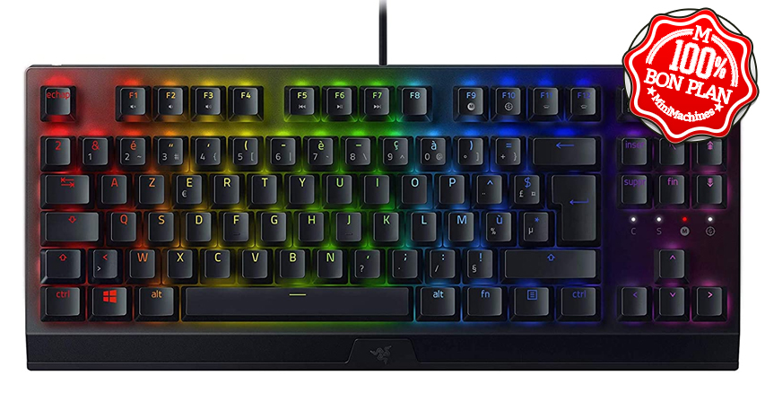 Clavier gamer Razer Blackwidow V3 TKL (Green Switch)