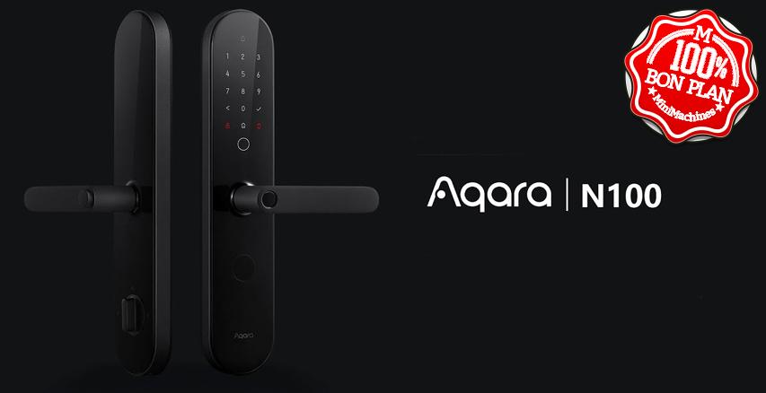 Serrure connectée Aqara N1000 empreinte + code + Bluetooth + clé