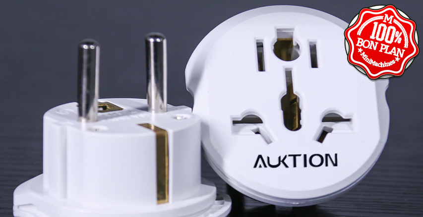 Adaptateur de prise international vers France ultraplate Auktion