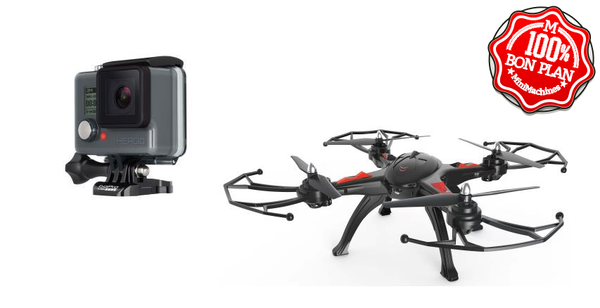 Pack GoPro Hero + Drone R'Bird Black Master DM240 Noir
