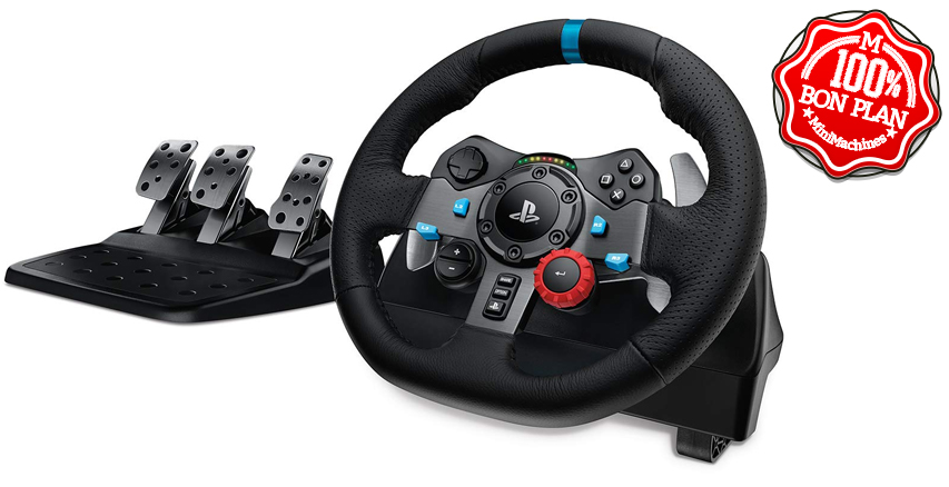 Volant Logitech G29 Driving Force avec Pédales et Levier de vitesses