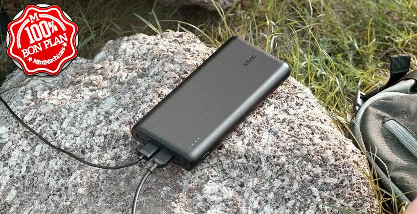 Batterie Anker PowerCore 26800 mAh (double entrée USB type-C)