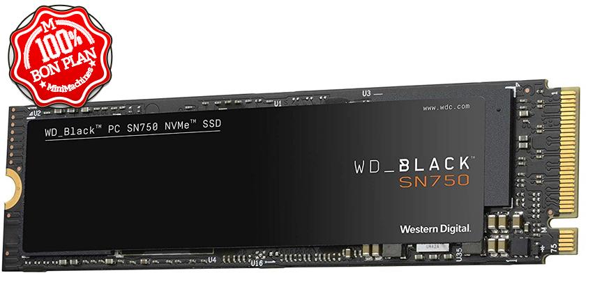 SSD 1To Western Digital Black SN750 PCIe NVMe