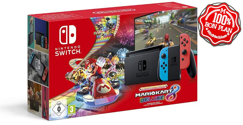 Console de jeu Nintendo Switch + Mario Kart 8 Deluxe