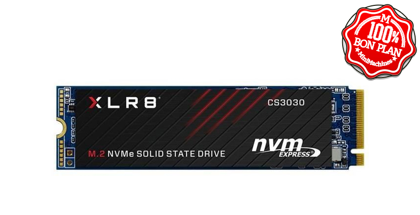 SSD PNY XLR8 CS3030 250Go M.2 PCIe NVMe
