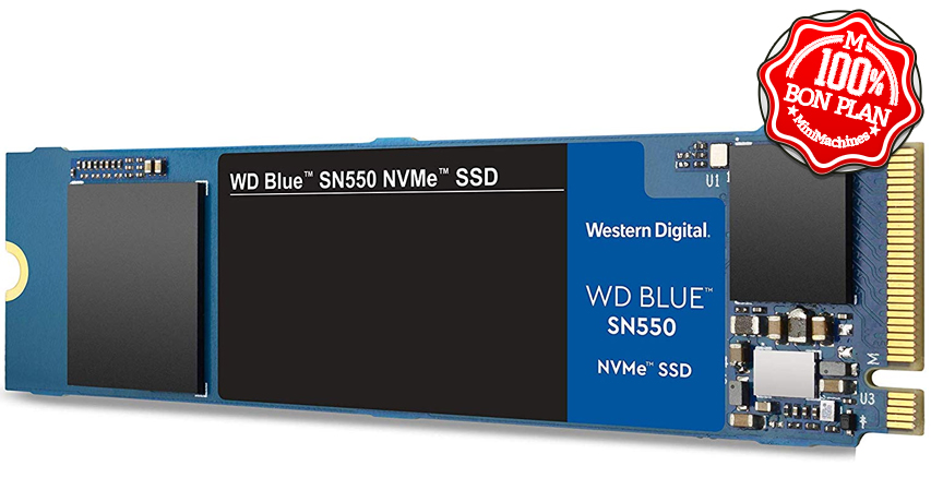 SSD 1To Western Digital Blue SN550 PCIe NVMe