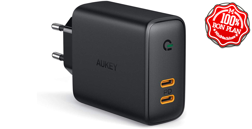 Chargeur Aukey USB Type-C 30W Power Delivery 3.0