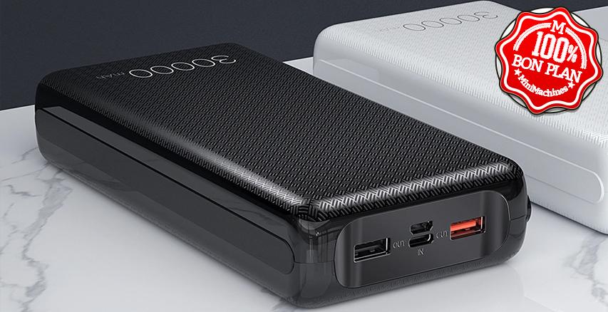 Batterie Essager 30000 mAh QuickCharge 3.0 et Power Delivery