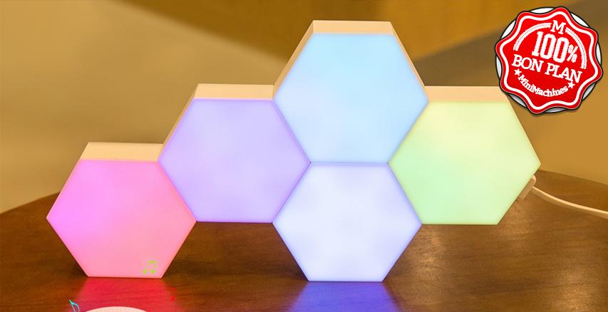 Lampe design 5 modules