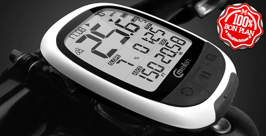 Ordinateur de vélo + GPS Meilan M2 compatible Strava
