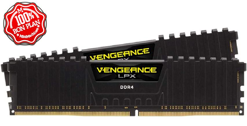 Kit mémoire DDR4 16Go (2x8Go) DIMM Corsair Vengeance LPX 3200 MHz