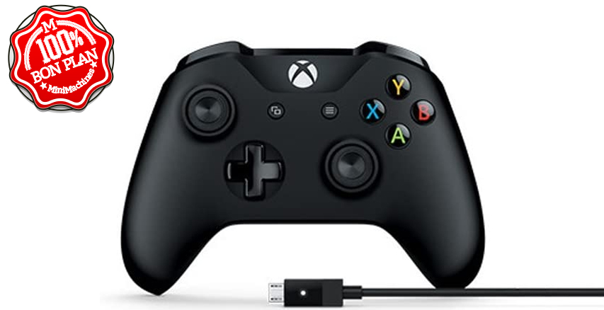 Manette Microsoft Xbox One sans fil + câble pour PC et Xbox
