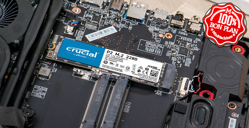 SSD M.2 2280 Crucial P2 250 Go NVMe PCIe