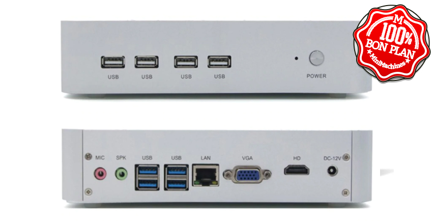 MiniPC Partaker B16 I5-8250U 16/512Go Fanless