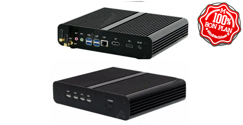 MiniPC Partaker Version Minimachines B16 I5-8565U 16/256Go Fanless