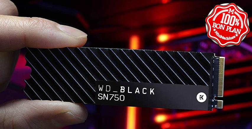 SSD WD Black SN750 EK 500 Go M2 PCie NVMe