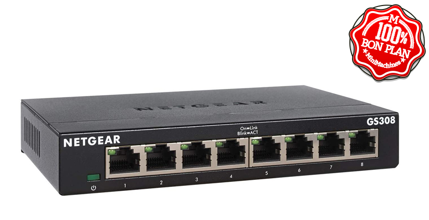 Switch 8 ports Netgear GS308-300PES